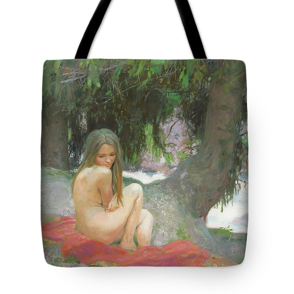 Under The Shade Of Firs Tote Bag