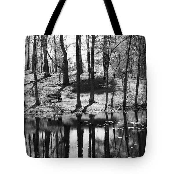 Under The Tall Trees Tote Bag by Luke Moore
