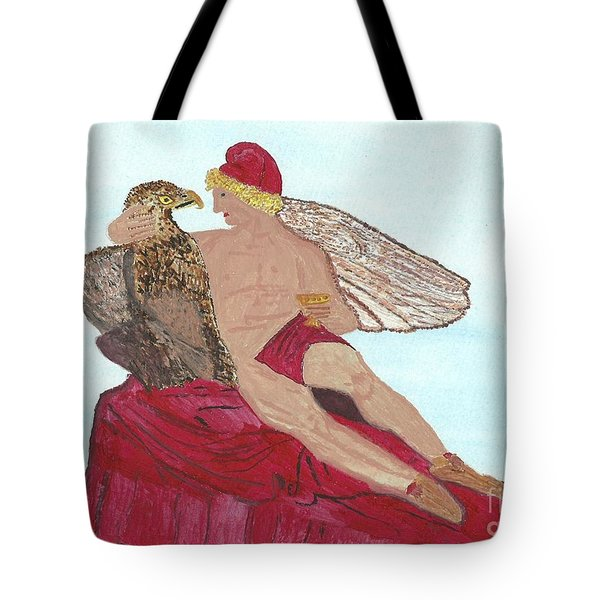Under The Wings Of Love Tote Bag by Tracey Williams
