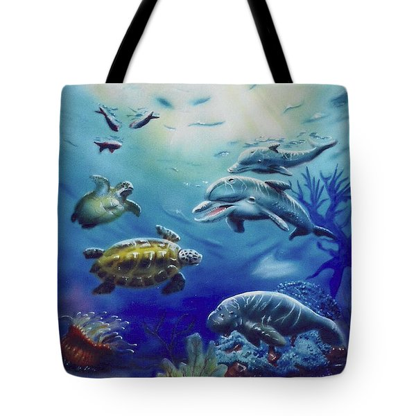 Under Water Antics Tote Bag