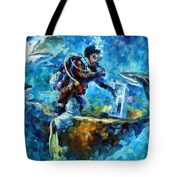 Under Water Tote Bag by Leonid Afremov