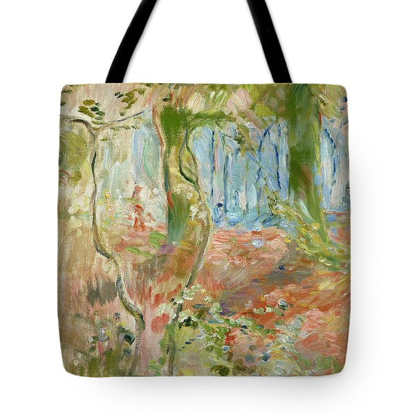 Undergrowth In Autumn Tote Bag by Berthe Morisot