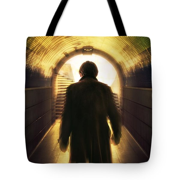 Underpassing Man Tote Bag