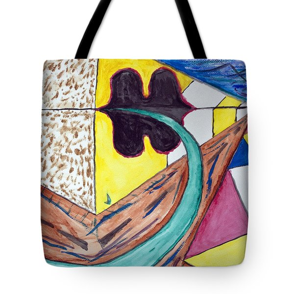Undersea Ufo Base Tote Bag by Stormm Bradshaw