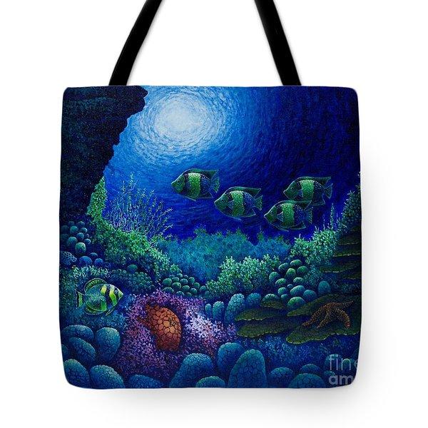 Undersea Creatures Iv Tote Bag