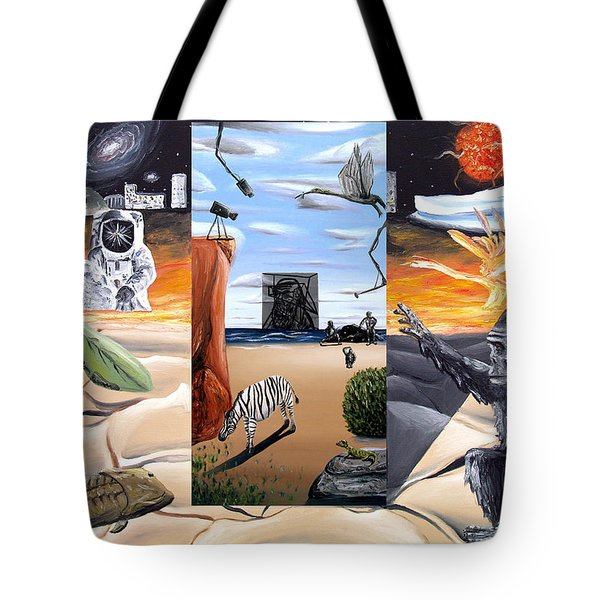 Tote Bag featuring the digital art Understanding Everything Full by Ryan Demaree