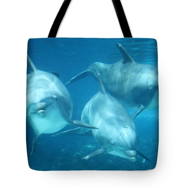 Underwater Dolphin Encounter Tote Bag
