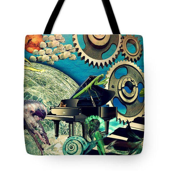 Tote Bag featuring the digital art Underwater Dreams by Ally  White