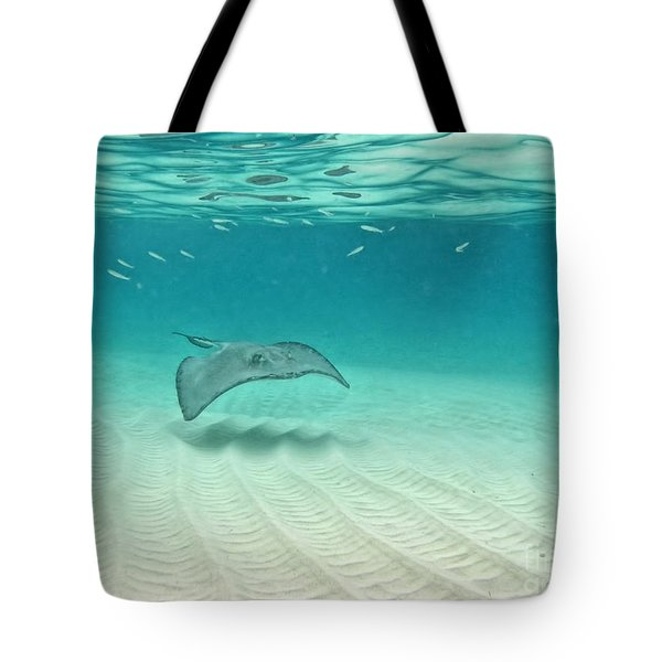 Underwater Flight Tote Bag by Peggy Hughes