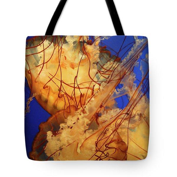 Underwater Friends - Jelly Fish By Diana Sainz Tote Bag by Diana Sainz