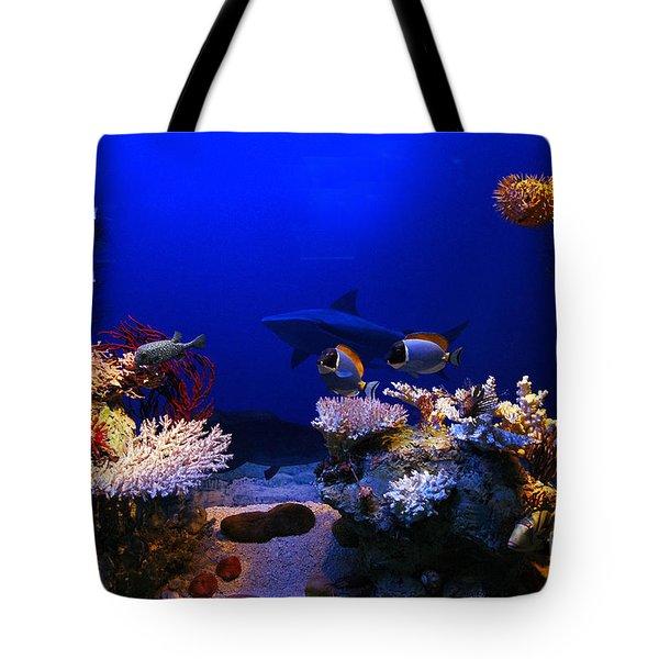 Underwater Scene Tote Bag by Michal Bednarek