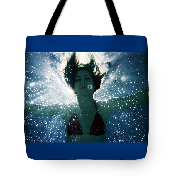 Underwater Self-portrait Tote Bag