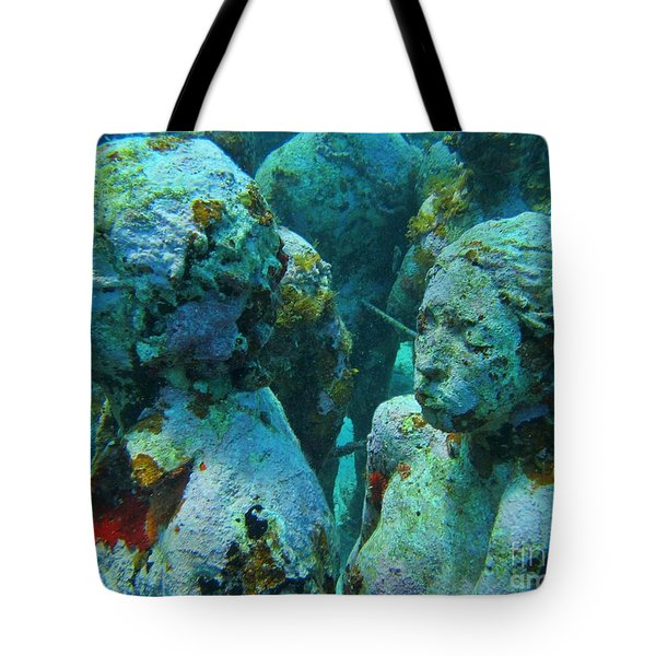 Underwater Tourists Tote Bag by John Malone