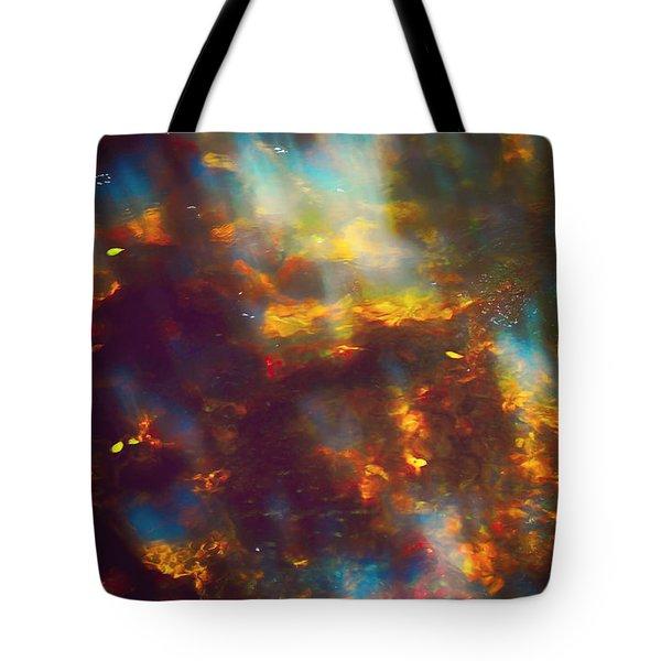 Underwater Treasure Tote Bag by Jenny Rainbow