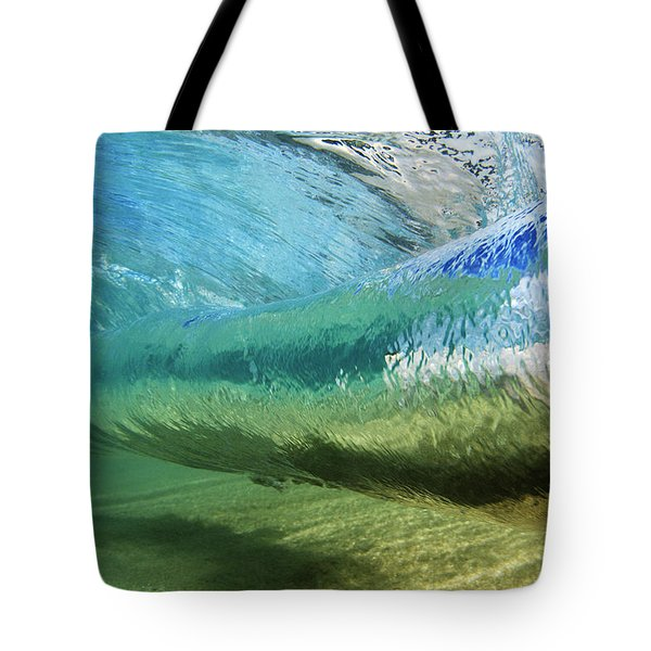 Underwater Wave Curl Tote Bag by Vince Cavataio - Printscapes