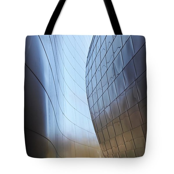 Undulating Steel Tote Bag by Rona Black