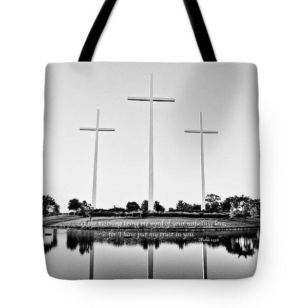 Unfailing Love Tote Bag by Scott Pellegrin
