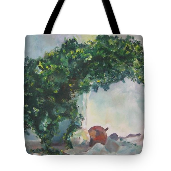 Tote Bag featuring the painting Unfinished Apples by Diane Pape