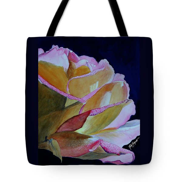 Unfolding Rose Tote Bag by Ruth Bodycott