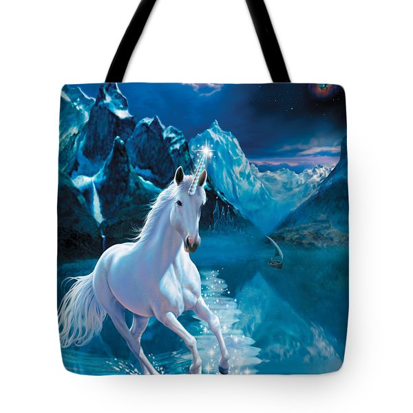 Unicorn Tote Bag by Andrew Farley