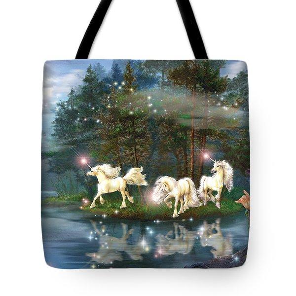Unicorn Wizard Pool Tote Bag