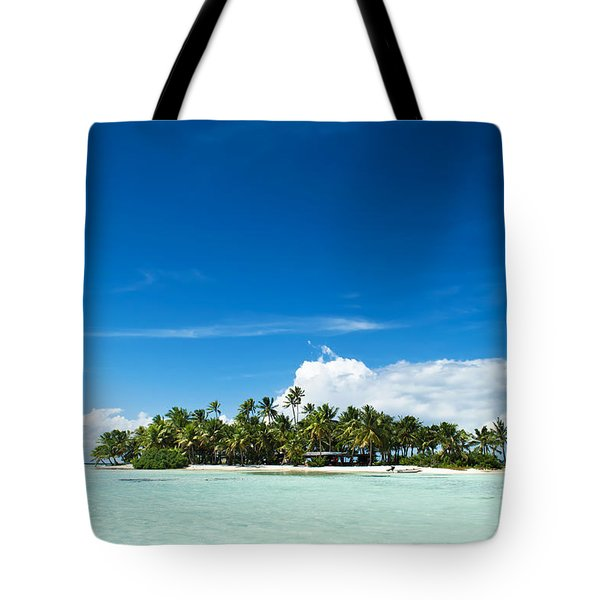 Uninhabited Island In The Pacific Tote Bag