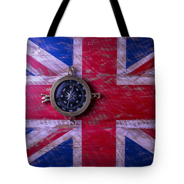Union Jack And Compass Tote Bag
