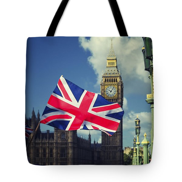 Union Jack Flag Tote Bag by Joseph S Giacalone