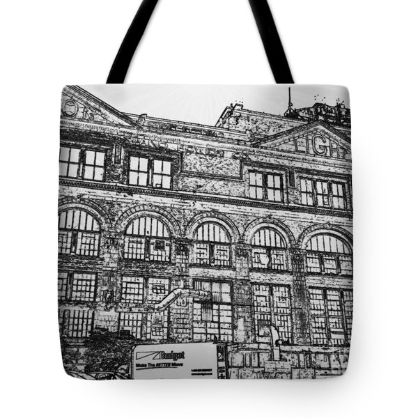 Union Light And Power In Black And White Tote Bag