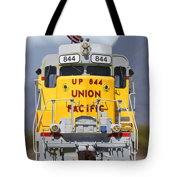 Union Pacific 844 On The Move Tote Bag