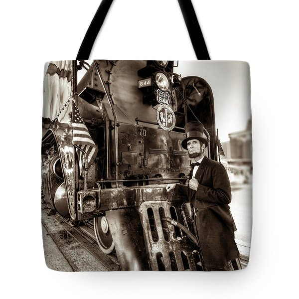 Tote Bag featuring the photograph Union Pacific 844 by Tim Stanley