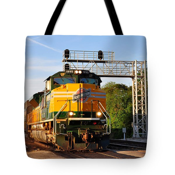 Union Pacific Chicago And North Western Heritage Unit Tote Bag