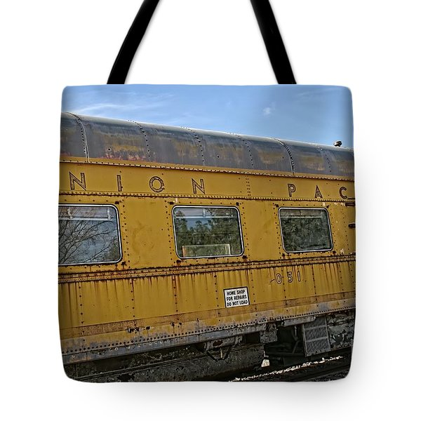 Union Pacific Tote Bag by Peggy Hughes