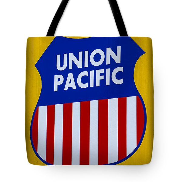 Union Pacific Raolroad Sign Tote Bag by Garry Gay
