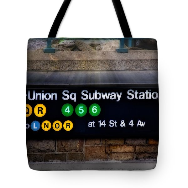 Union Square Subway Station Tote Bag by Susan Candelario