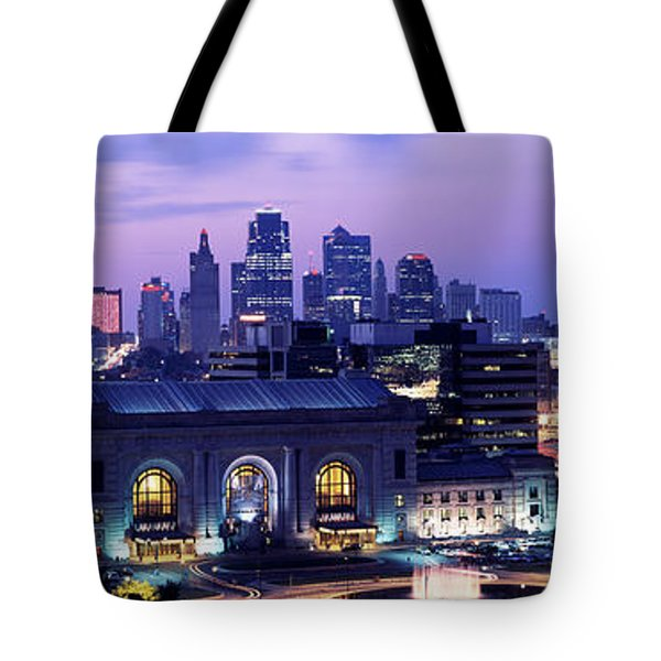 Union Station At Sunset With City Tote Bag