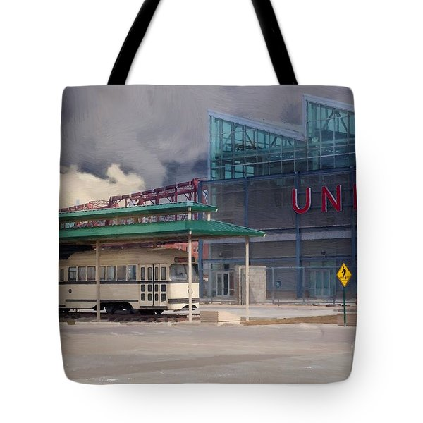 Union Station - Backside - Oil Painting Tote Bag by Liane Wright