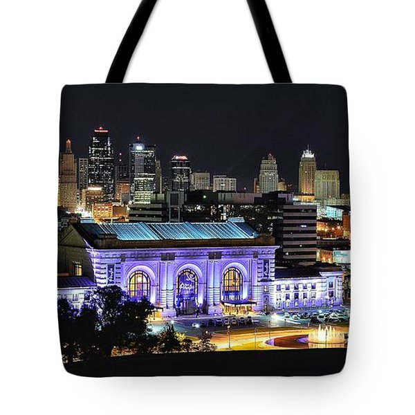 Union Station In Purple Tote Bag