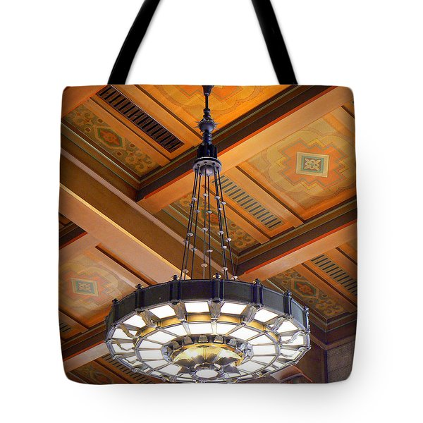 Union Station Light Fixture Tote Bag by Karyn Robinson