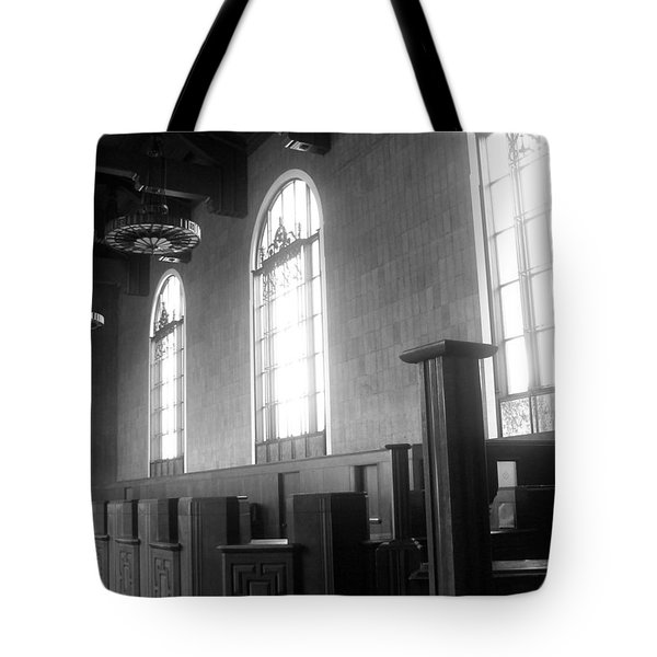 Union Station Ticketing Room Tote Bag by Karyn Robinson