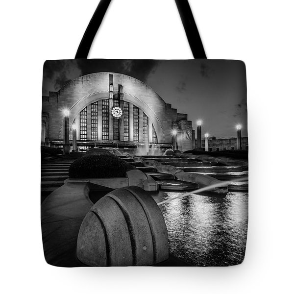 Union Terminal At Night Tote Bag by Keith Allen