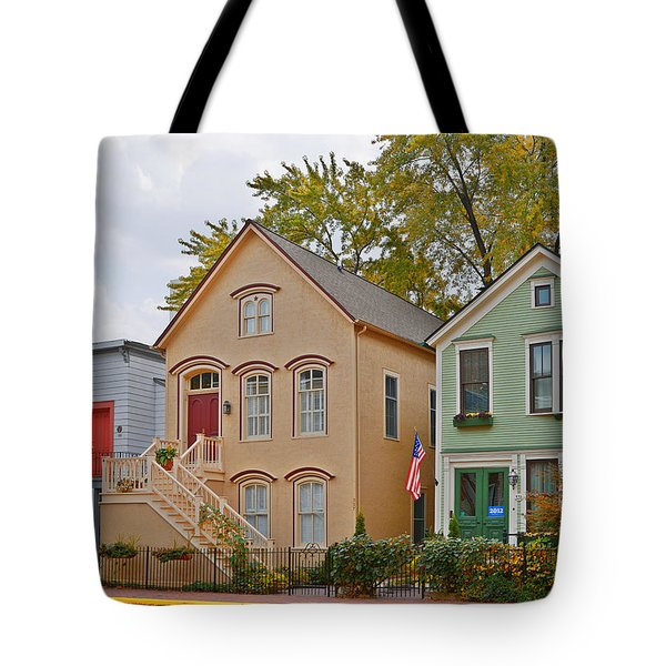 Unique Old Town Chicago Tote Bag by Christine Till