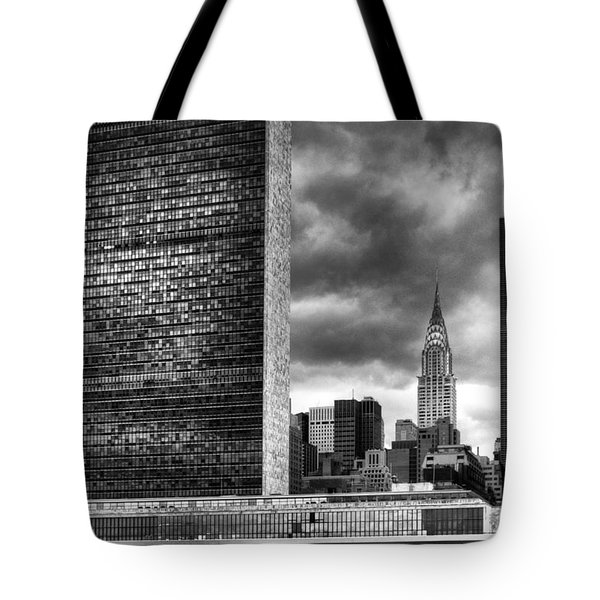 United Nations And Chrysler Building Tote Bag