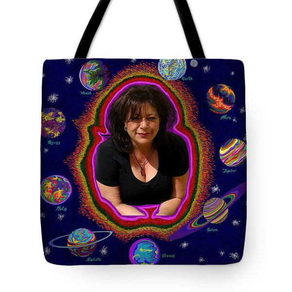 United Planets Of Mona Robin Tote Bag by Robert SORENSEN