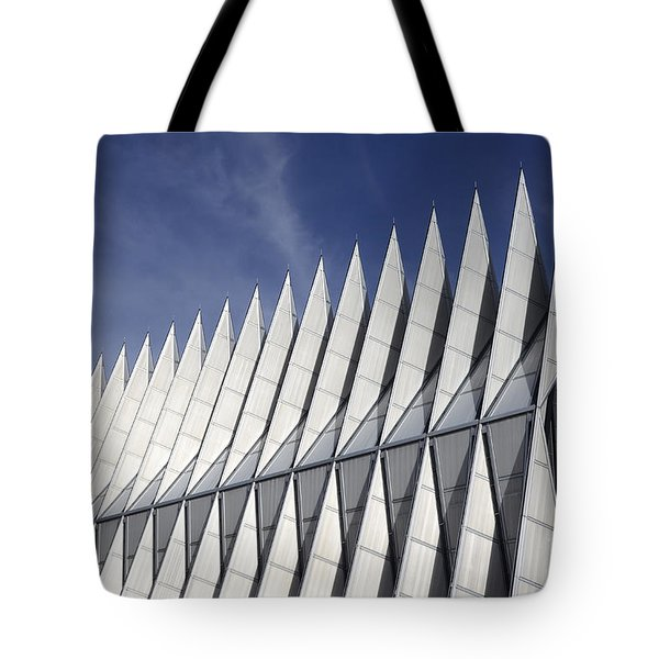 United States Airforce Academy Chapel Colorado Tote Bag by Bob Christopher