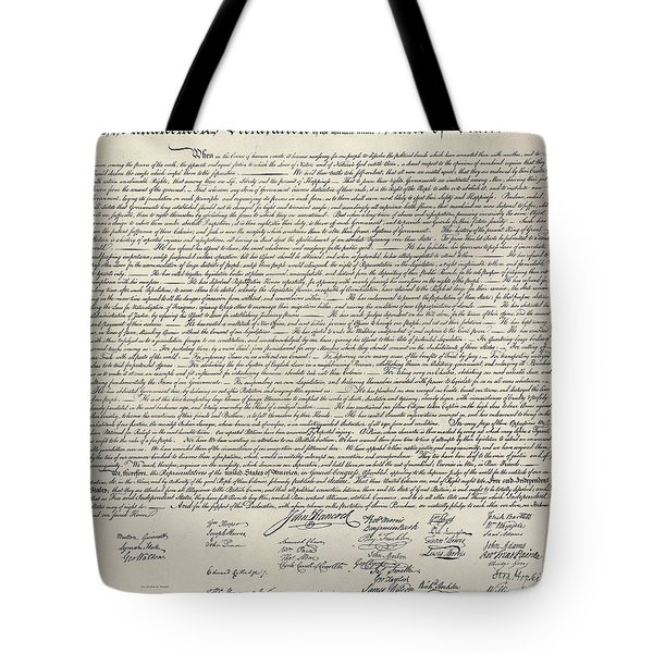 United States Bill Of Rights Tote Bag