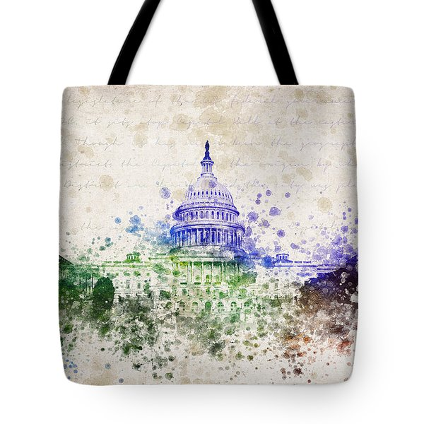 United States Capitol Tote Bag by Aged Pixel
