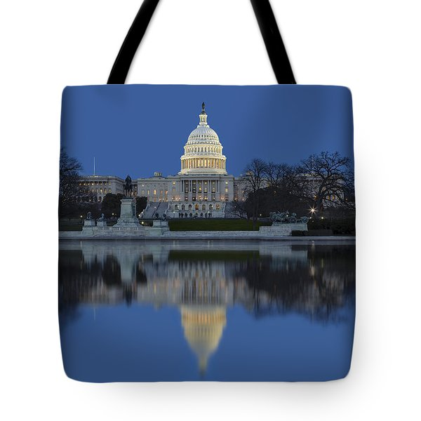 United States Capitol Building Tote Bag by Susan Candelario