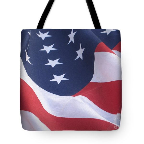 Tote Bag featuring the photograph United States Flag  by Chrisann Ellis