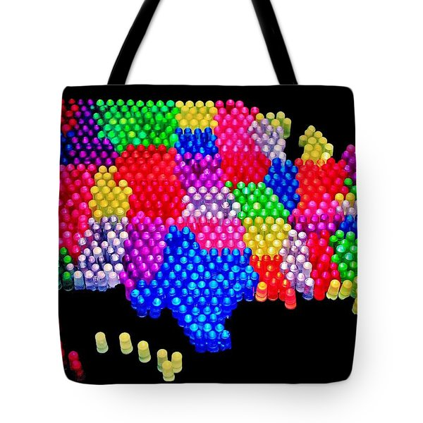 United States Of Lite Brite Tote Bag by Benjamin Yeager